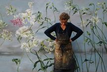 large floral paintings for interior design