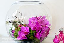 round vase flowers
