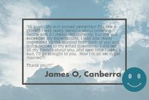 Customer Testimonials / Read what our customers have to say! :D