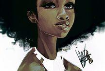 Pinturas Digitais Negras