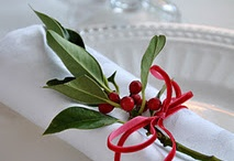 Holly and Table Decoration / Holly