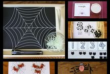 Spiders and bats theme