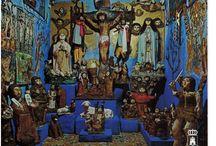 Casa Museo de La Tía Sandalia / Artistas outsider de arte religioso. Museo donde se encuentra su obra en Villacañas, Toledo, España.