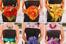 bouquets arc en ciel