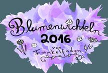 Blumenwichteln 2016 / Pinnwand zum Blumenwichteln 2016 von Funkelfaden