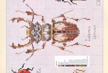 Bugs cross stitch / hama beads