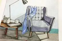 рисунки интерьера