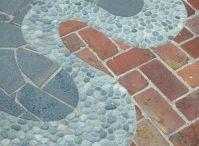 Mosaics.Mixed Materials. Tiles. Adorned Surfaces