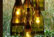lámparas botellas