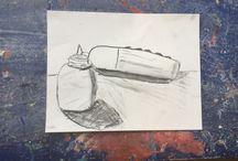 Houtskool schetsen