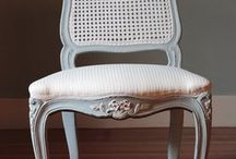 Painting Furniture - caned chairs