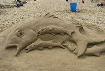 Beach Art / Beach Art Saturday 16 or Sunday 17 August, La Tour Carree, Five Mile Road  £7.00 per child  Download the booking form here.  Learn how to cast plaster sculptures in sand. We will be carving sea creature shapes in the beach embedded with our beach-combed treasures to make plaster sculptures as souvenirs of the summer.