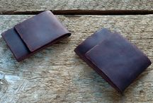 Fellowings Products / Wallets, catch alls, and other leather accessories for the rustic minimal type.