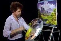Боб Росс рисует, Bob Ross painting