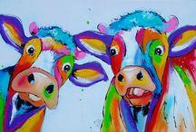 Schilderij : koe
