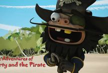 The Adventures of Barty & the Pirate / Research Project Visual Development Artwork