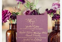 Eggplant, Ivory and Champagne Wedding Color Inspirations