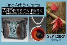 2014 Fine Art & Crafts at Anderson Park / Essex County Department of Parks, Recreation and Cultural Affairs and Rose Squared Productions, Inc. will present the 31st annual Fine Art & Crafts at Anderson Park in Upper Montclair, New Jersey. Our oldest show has been selected as one of Sunshine Artists' Magazine's top 100 shows in the country. Anderson Park is a lovely county park, one block away from the main street in Upper Montclair, an affluent, arty area in northern New Jersey. The free to the public event runs from 10am-5pm.