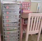 Workboxes / School work organizational system by Sue Patrick.