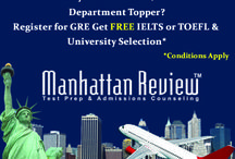 Manhattan Review - GMAT,GRE,SAT Special Offers & News / The teaching methodology and learning material recommended in Manhattan Review, is a true reflection of the test paper in GRE, GMAT, SAT, IELTS, TOEFL examination
