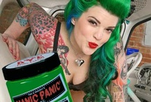 Manic Panic Green Envy / Reference pics for Manic Panic Semi-Permanent hair colour in Green Envy. Vegan & Cruelty-Free. Available in Classic & Amplified. For full product catalogue email us: info@anonamiss.co.za