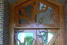 dekorativ ajtók , ablakok