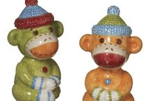 Sock Monkeys / Did you ever have a sock monkey? Childhood memories abound with fun additions to this favorite toy.
