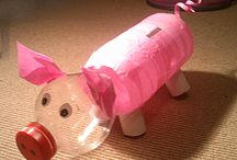 Recyklingowe zabawki / Oto kilka pomysłów na zabawki i ozdoby z produków śmieciowych.