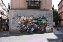Tire streetart / Tire streetart - Banden streetart