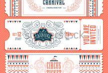 Circus trouwkaart