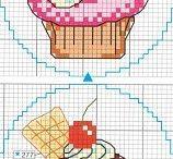 cupcakes punto de cruz
