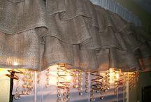 Burlap Curtains / Backdrop