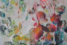 Tableau peinture contemporaine abstraite