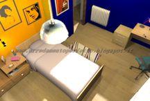 La cameretta dei ragazzi by Consigli D'arredo / Progetto d'arredo in grafica 3D di una cameretta con taglio particolare