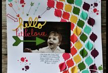 Stampin scrapbook pages