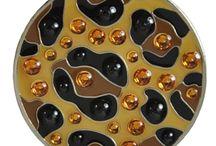 Animal Print Golf Balls & Ball Markers / Golf balls and matching ball markers