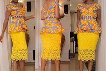 Beautiful yellow lace dress