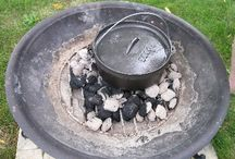 Rustic Cooking Outdoors With Fire