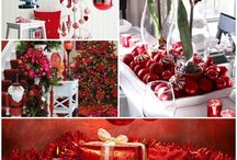 Christmas Decorations In Red For A Romantic Atmosphere