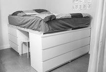 förhöjd säng