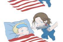 Steve and Bucky babies