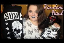 Hauls / Usually videos, pretty self-explanatory. I acquire stuff, then I show you on camera. I have always loved watching hauls and living vicariously through other people's purchases, so I hope you enjoy mine!