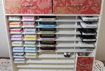 DIY Stamp Pad Storage / Storage for art supplies