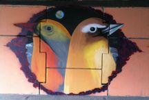 Street art  / Graffiti art ,street canvas ,mexican art