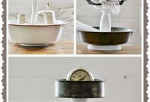Repurpose cake pans bowls into tiered stands.
