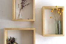 Shelf solutions / home decor, DIY