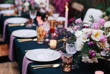 Touch of Purple table decor