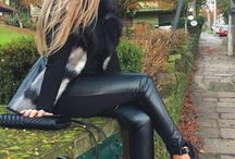 Leather trousers selfie