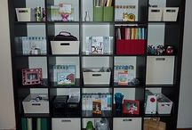 Craft room / I'm pretty lucky to have a nice craft space but I love seeing the awesome creative spaces others have designed. Smart storage, wall decor, comfy chairs, great work tables, small spaces / by Beatrice Lawson