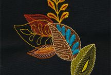 leaf spray embroidery